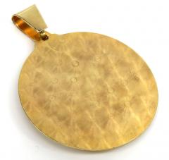 14k two tone gold medium santa barbara ruby cz pendant 0.05ct