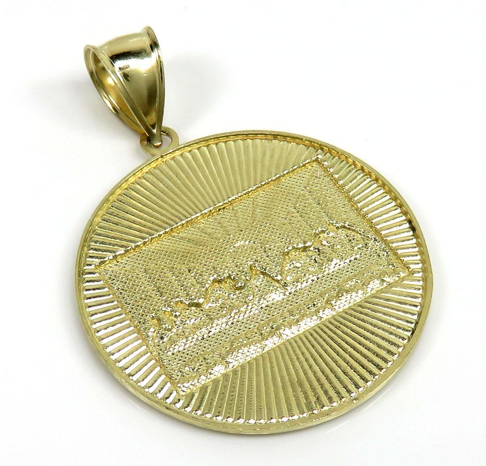 10k yellow gold small jesus apostles last supper pendant