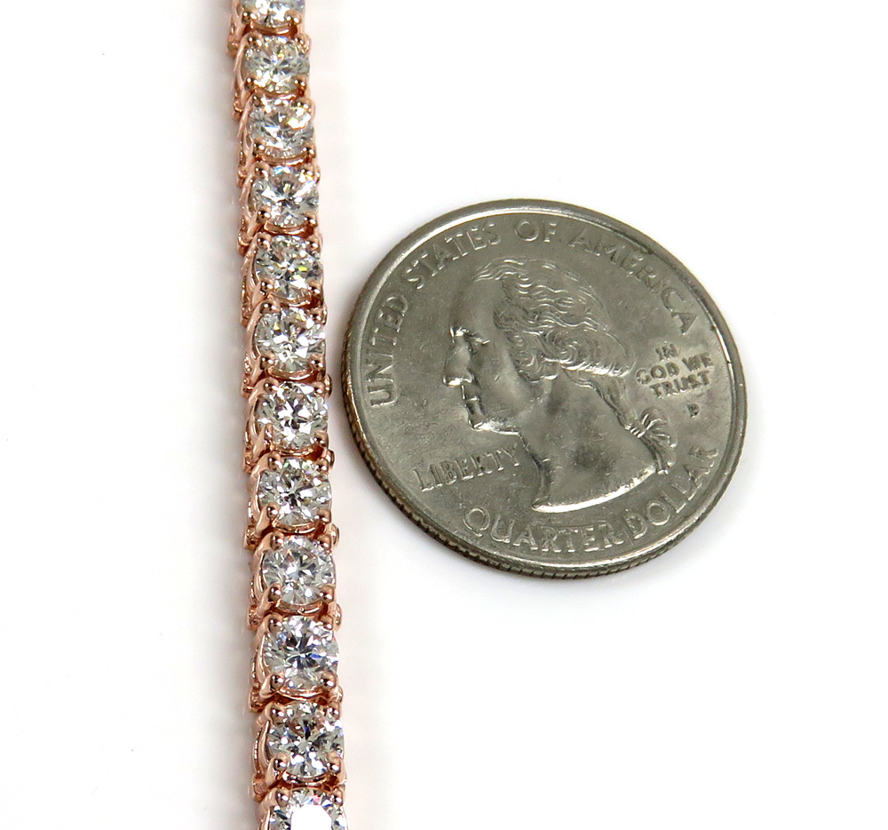 14k gold 25 pointer vs diamond tennis bracelet 7 inch 10.80ct