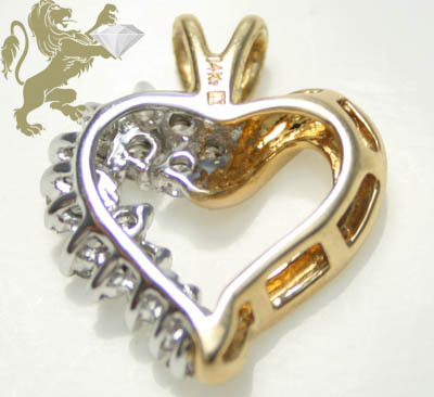 1.02ct 14k solid yellow gold round & baguette diamond