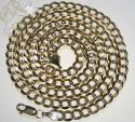 10k yellow gold diamond cut cuban chain 26-36 inch 6mm