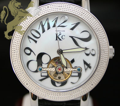0.30ct mens techno com by kc genuine diamond watch