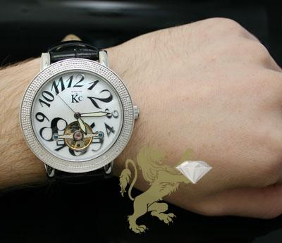 0.30ct mens techno com by kc genuine diamond watch