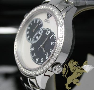 2.45ct mens aqua master genuine round diamond