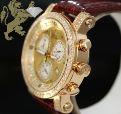 2.20ct ladies aqua master genuine diamond watch