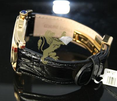 1.70ct mens aqua master genuine diamond watch  blue inner pearl dial