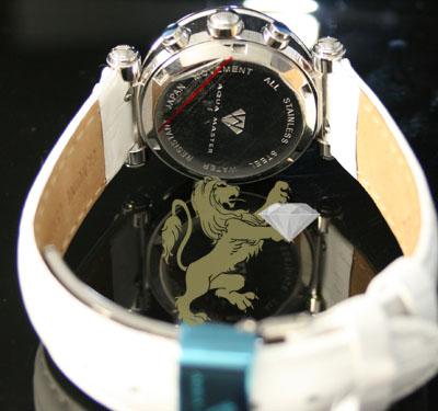 0.85ct ladies aqua master genuine diamond watch