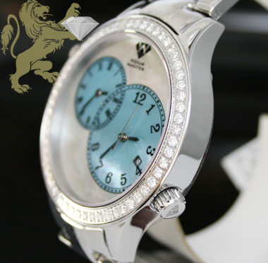 2.45ct aqua master genuine diamond watch