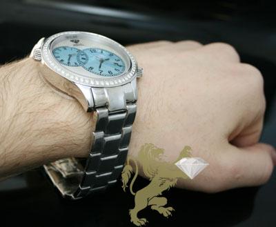 2.45ct aqua master genuine diamond watch