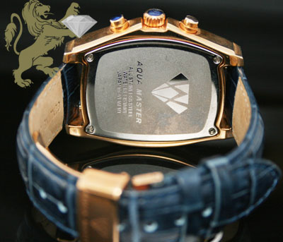 2.00ct mens aqua master genuine diamond watch