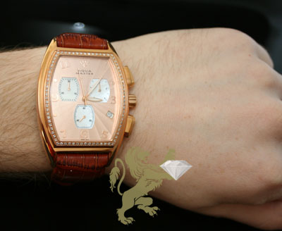 1.00ct mens aqua master genuine diamond watch