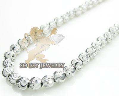 14k white gold diamond cut