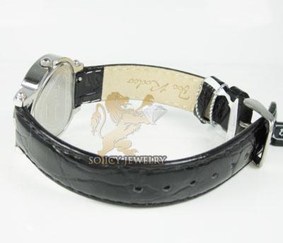 Ladies joe rodeo diamond watch black mini heart 0.27ct