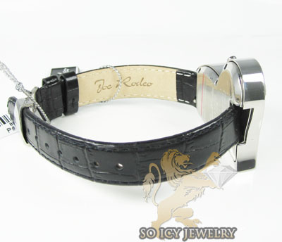 Ladies joe rodeo diamond watch white sahara heart 1.40ct