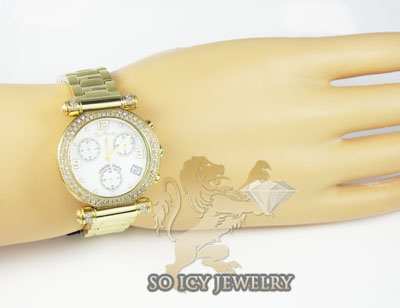 Ladies joe rodeo diamond watch yellow valerie 1.10ct