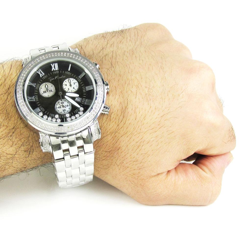 Mens joe rodeo black tyler diamond watch 2.00ct