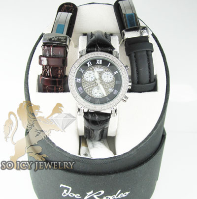 Ladies diamond joe rodeo black dial passion watch 0.60ct