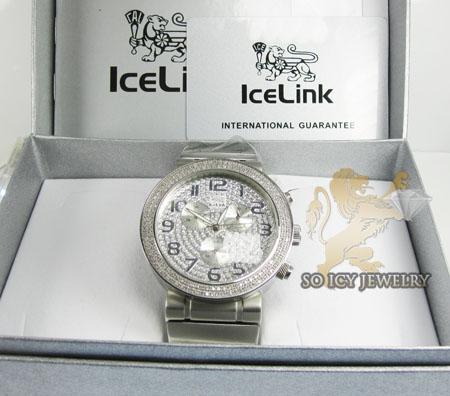 Diamond icelink sport diver mens watch 1.75ct