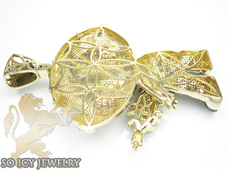 DIAMOND 10K YELLOW GOLD PENDANT 17 00CT
