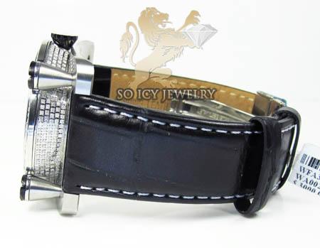 Techno com kc full diamond moon dial watch 3.00ct