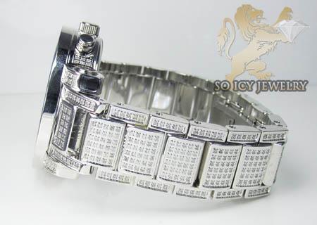 Techno com kc full diamond band & case watch 9.00ct