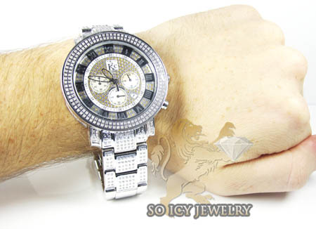 Techno com kc full diamond case watch watch 5.50ct