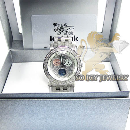 Diamond icelink ice bank mens watch 9.50ct