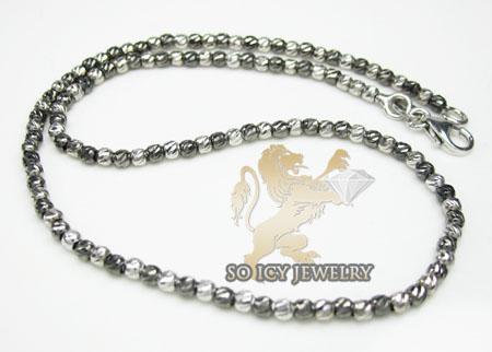 14k white & black gold diamond cut