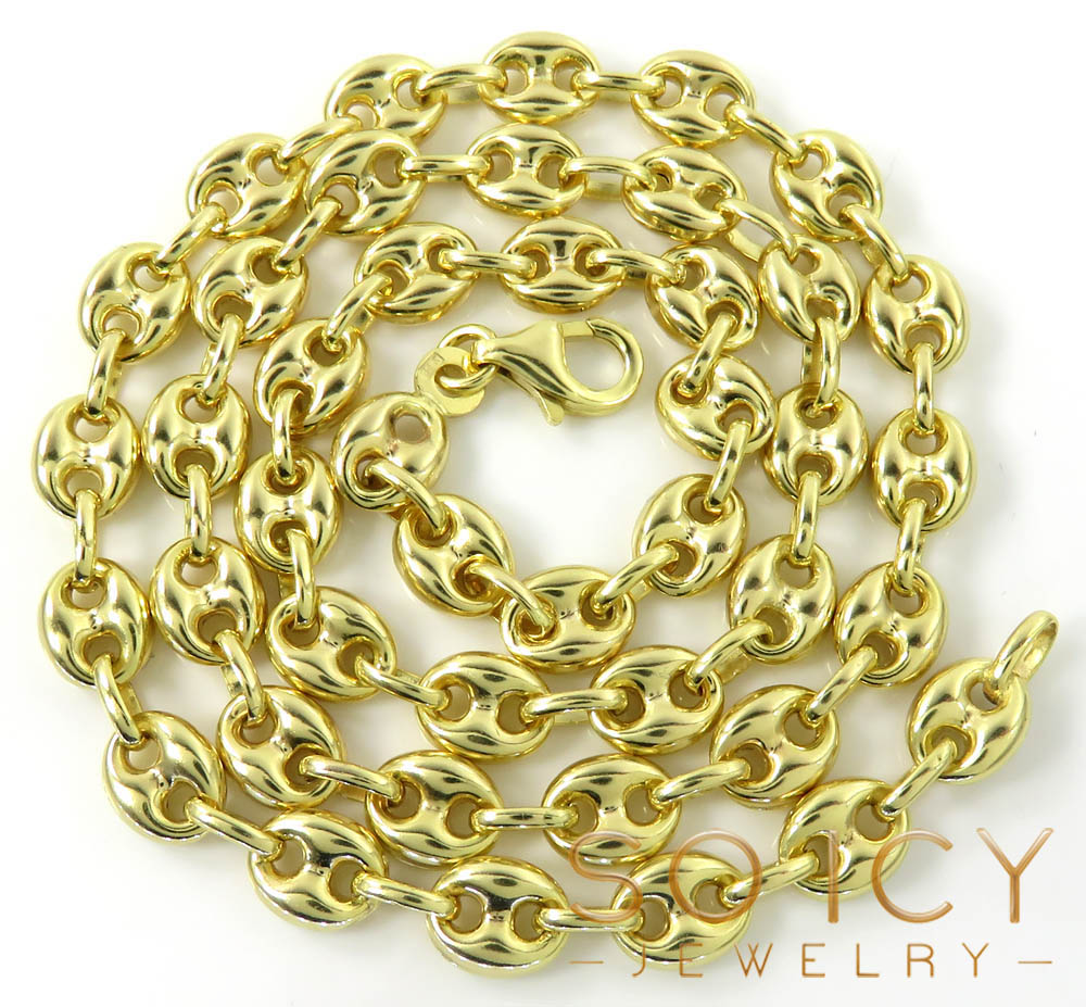 14k Yellow Gold Gucci Link Chain 24 Inches 6 3mm