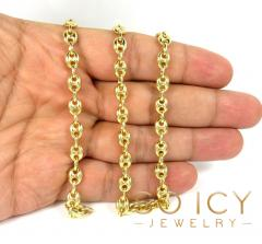 14k yellow gold gucci puff link chain 18-26