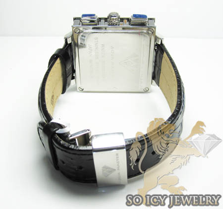 Mens aqua master genuine diamond square watch 0.20ct