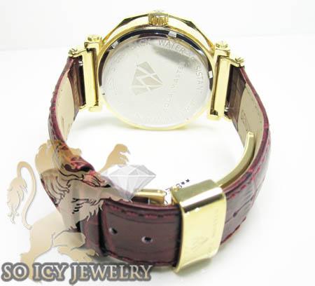 Womens aqua master genuine diamond yellow carbon watch 0.20ct