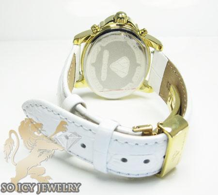 Ladies aqua master genuine diamond yellow geneve watch 0.20ct