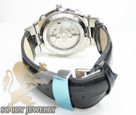 Mens aqua master genuine diamond tourbillon watch 0.20ct