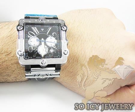Mens aqua master genuine diamond box watch 0.20ct