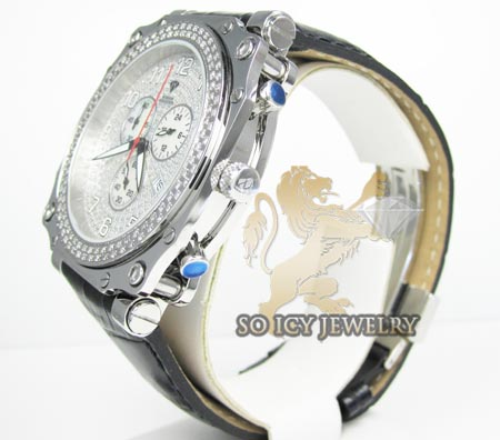 Mens aqua master genuine diamond sqaure watch 1.25ct