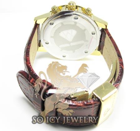 Ladies aqua master genuine diamond yellow 35mm watch 0.20ct