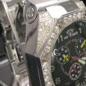 Mens aqua master diamond watch 4.50ct