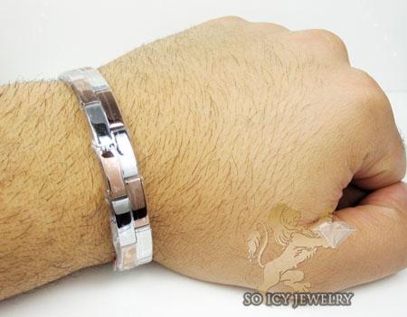 White & rose stainless steel fasion bracelet