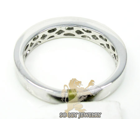Unisex 14k white gold round diamond wedding band 0.50ct