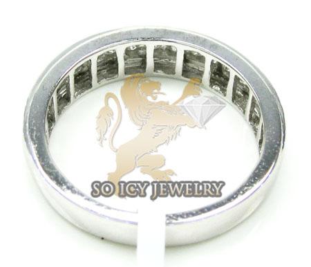 Mens 14k white gold round diamond wedding band 1.10ct