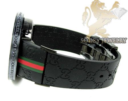 Mens black diamond igucci digital watch 6.00ct