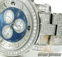 Aqua master full diamond ice mens watch 13.60ct