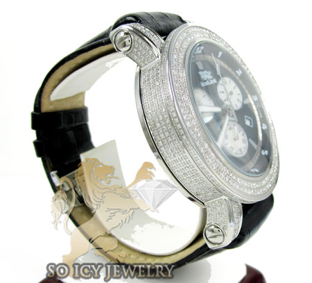 Diamond icelink ice king mens watch 5.50ct