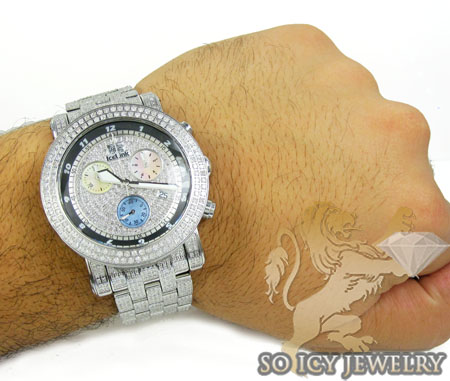 Diamond icelink ice bank mens watch 9.50ct