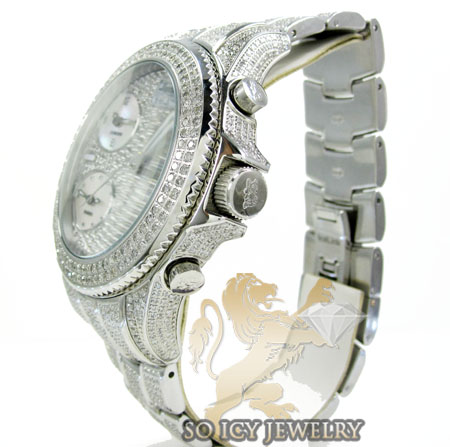 Diamond Icelink Marco Polo Fully Iced Mens Watch 15 00ct