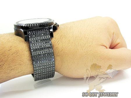 Techno master diamond watch ice wrist- band 20.00ct