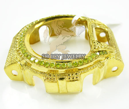Canary diamond yellow .925 italy diamond cut g-shock case 2.25ct