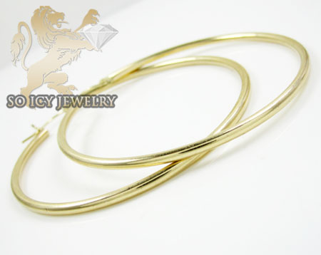 14k yellow gold classy hoops