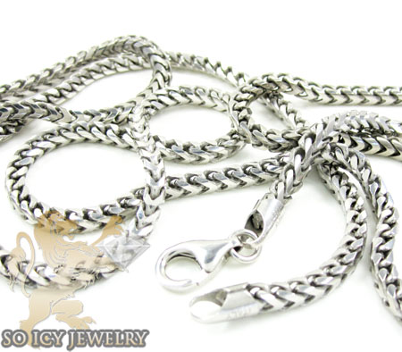 .925 sterling silver franco italy chain 24-36 inches 3mm